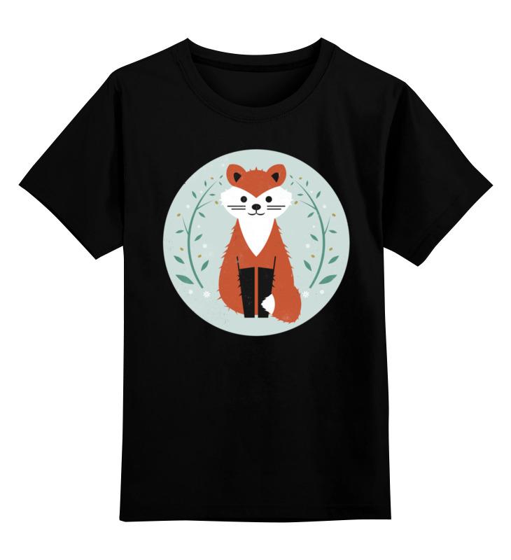 Детская футболка классическая унисекс Printio Лисичка