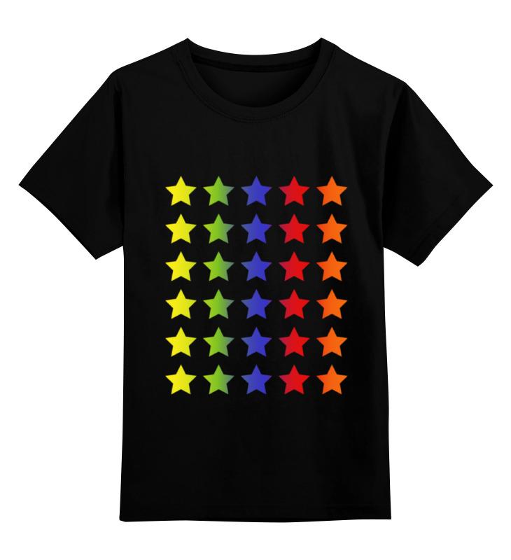 Детская футболка классическая унисекс Printio Яркие звезды урубко д прогулки по вертикали