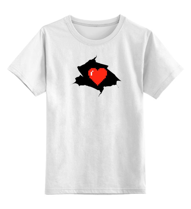 Детская футболка классическая унисекс Printio Пиксельное сердце (8-бит) детская футболка классическая унисекс printio механическое сердце