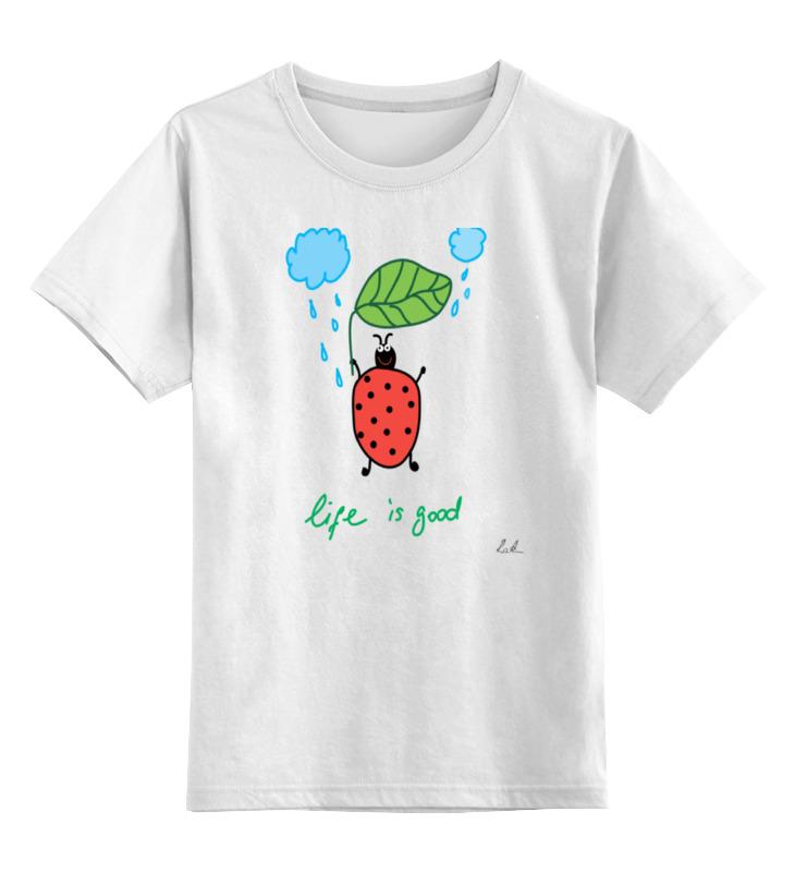 Детская футболка классическая унисекс Printio Божья коровка аксессуары bino бусы божья коровка 9989086
