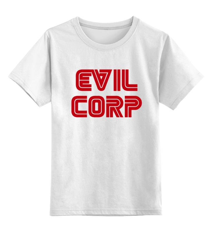 Детская футболка классическая унисекс Printio Evil corp designs corp