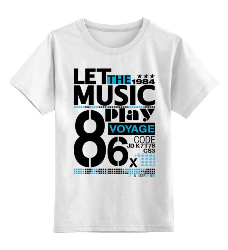 Детская футболка классическая унисекс Printio Let the music jd mcpherson jd mcpherson let the good times roll