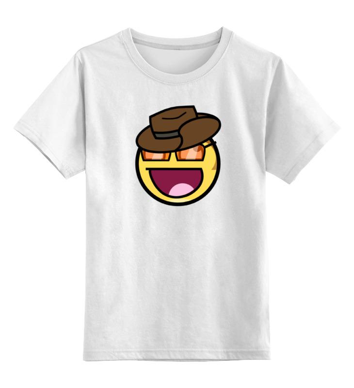 Детская футболка классическая унисекс Printio Смайлик