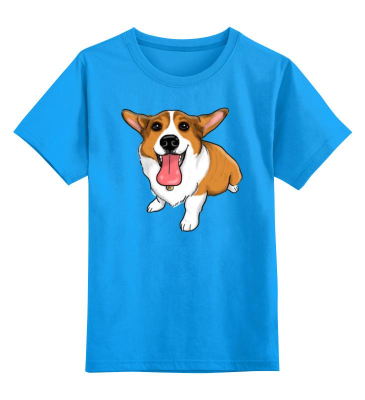 Детская футболка классическая унисекс Printio Корги цена и фото