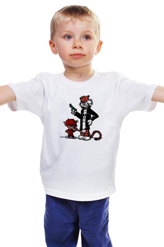 Детская футболка классическая унисекс Printio Кельвин и хоббс