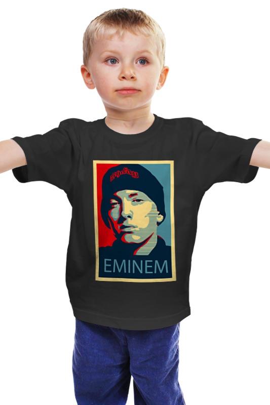 Детская футболка классическая унисекс Printio Эминем (eminem)