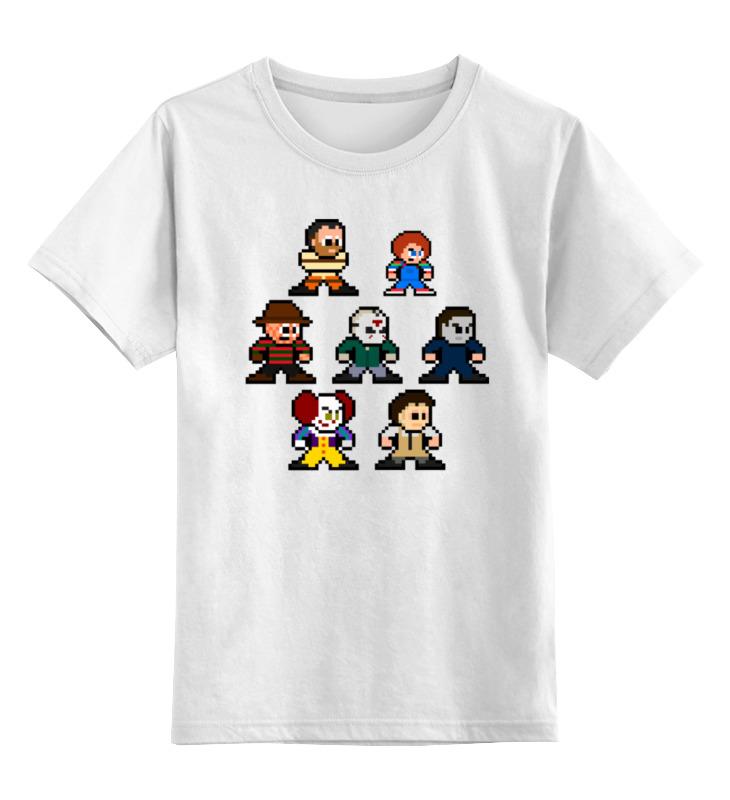 Детская футболка классическая унисекс Printio Герои ужасов (8-bit) asics gel noosa tri 11 t626n 3007