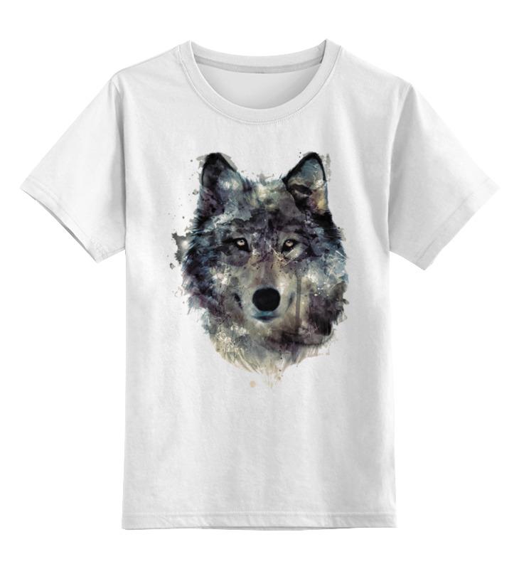 Детская футболка классическая унисекс Printio Серый волк футболка классическая printio тамбовский волк тебе товарищ