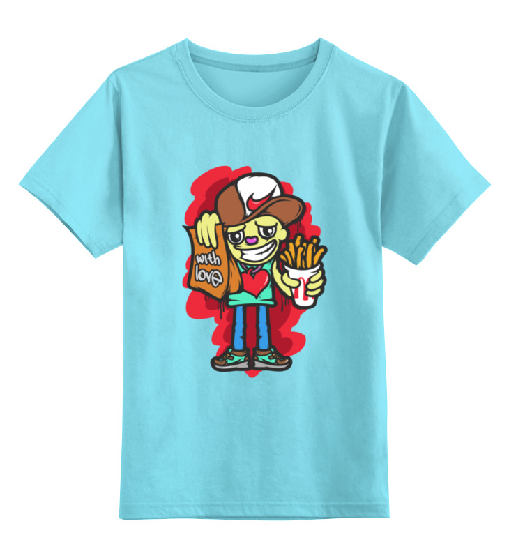 Детская футболка классическая унисекс Printio With love
