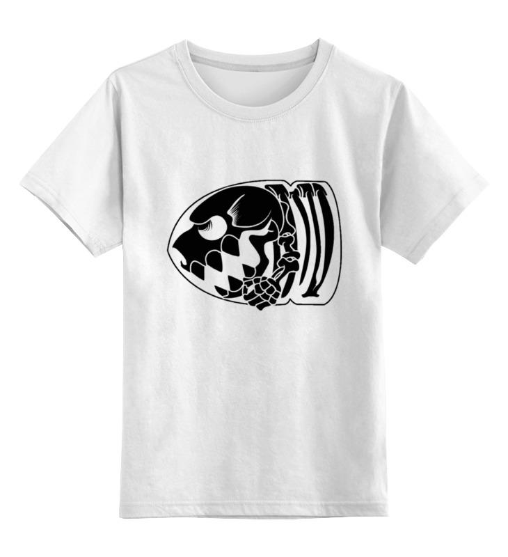 Детская футболка классическая унисекс Printio Скелет пули