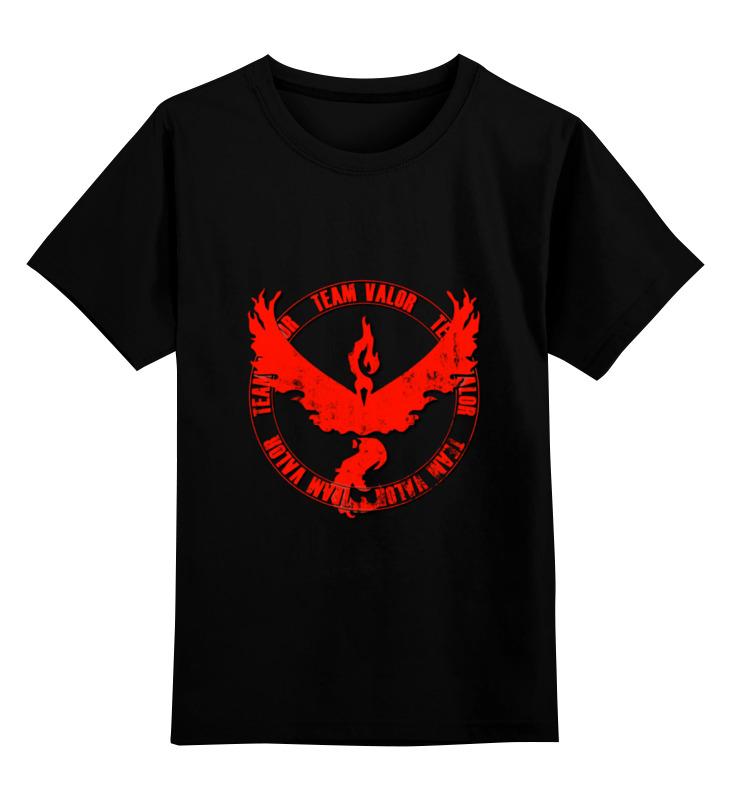 Детская футболка классическая унисекс Printio Team valor