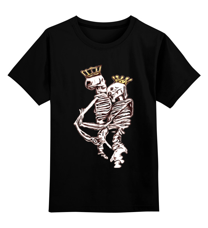 Детская футболка классическая унисекс Printio Kings & aliens draw 50 aliens