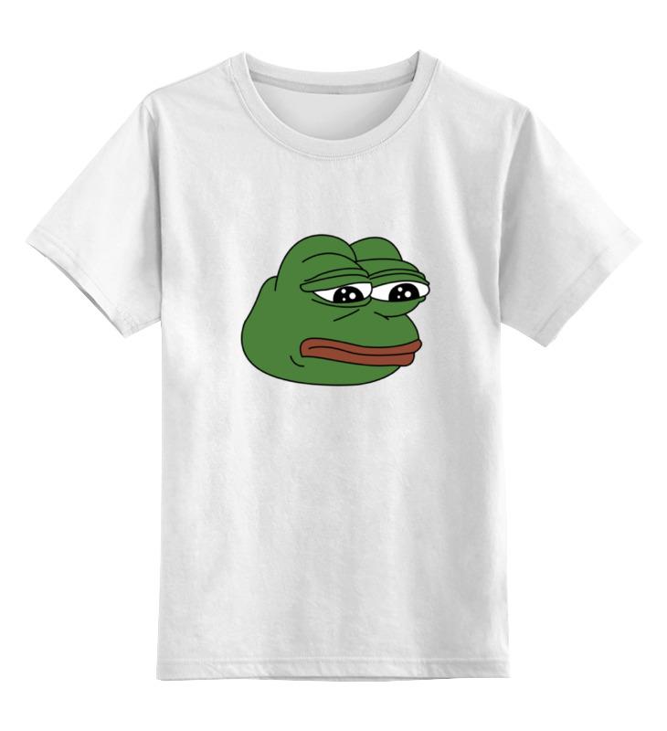 Детская футболка классическая унисекс Printio Грустная лягушка partner лягушка универсальное сетевое зу цвет белый черный