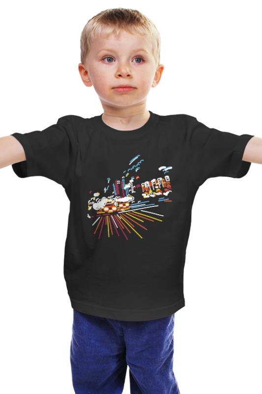 Детская футболка классическая унисекс Printio Ночной город блокнот printio прогулки по городу