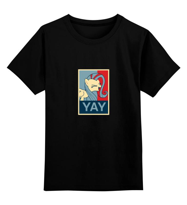 Детская футболка классическая унисекс Printio Fluttershy's yay! леггинсы для девушек