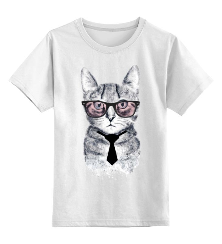 Детская футболка классическая унисекс Printio Умный кот детская футболка классическая унисекс printio абстрактный кот