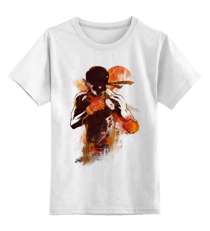 Детская футболка классическая унисекс Printio Абстрактный боец майка классическая printio абстрактный боец