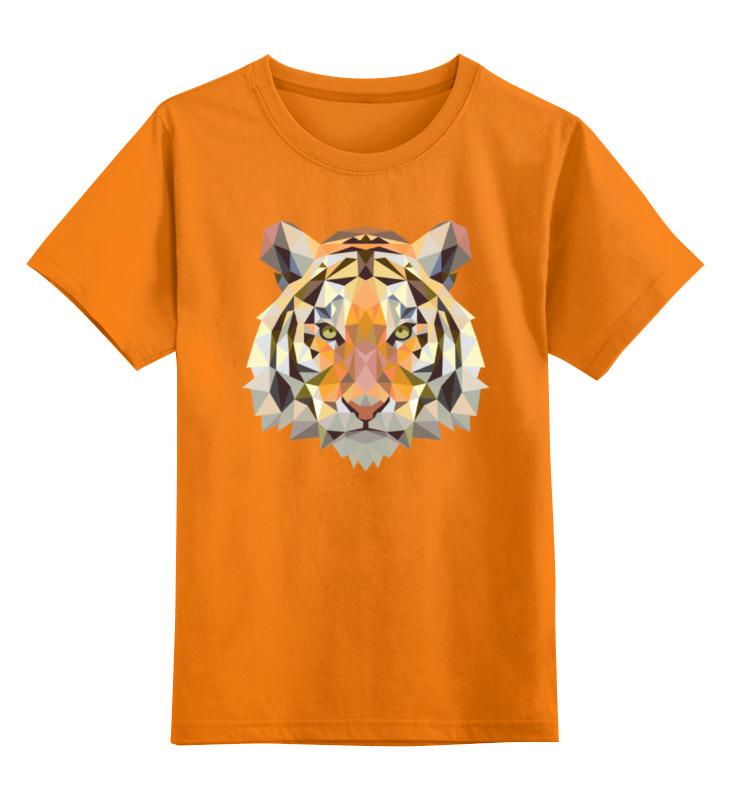 Детская футболка классическая унисекс Printio Полигональный тигр детская футболка классическая унисекс printio мотобайк