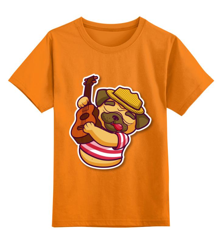 Детская футболка классическая унисекс Printio Мопс-музыкант цена и фото