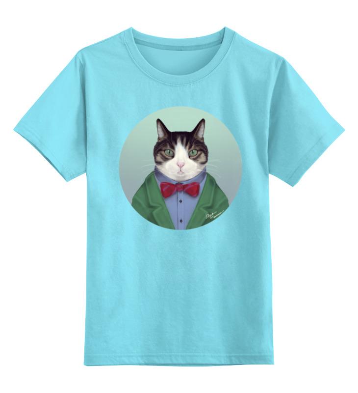 Детская футболка классическая унисекс Printio Кот в костюме абиссинский кот в харькове
