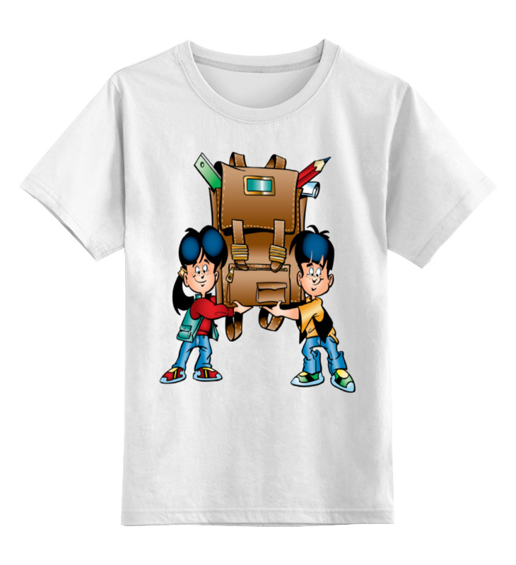 Детская футболка классическая унисекс Printio Первый раз в первый класс.день знаний павел анатольевич глибчак воскресение – первый день