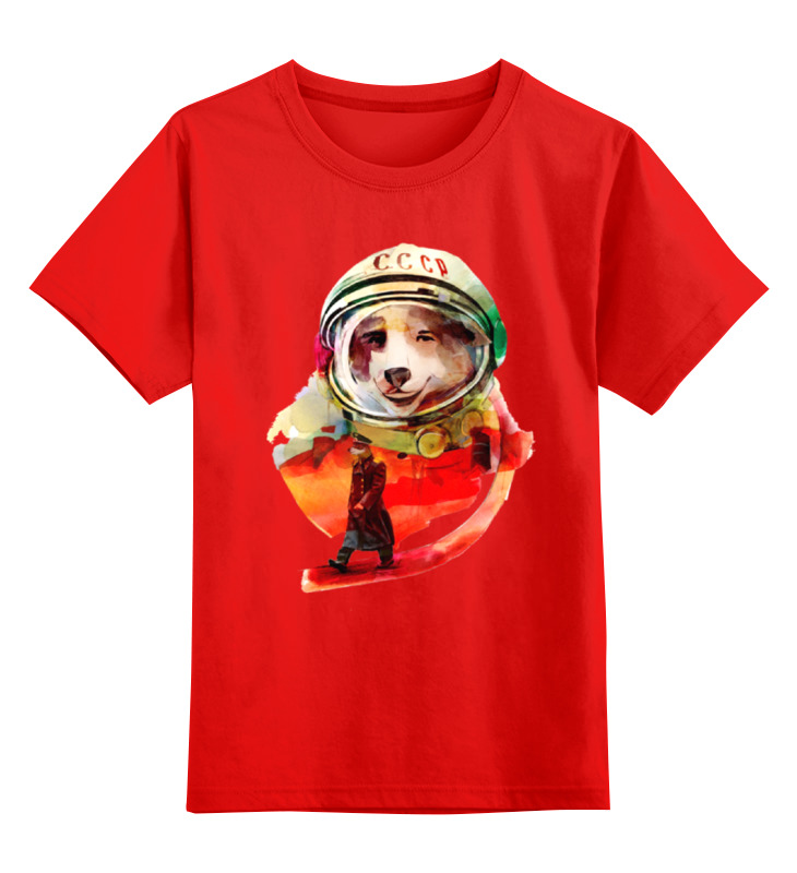 Детская футболка классическая унисекс Printio Белка и стрелка цена и фото