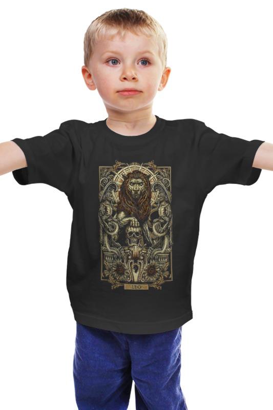 Детская футболка классическая унисекс Printio Лев (зодиак) детская футболка классическая унисекс printio лев