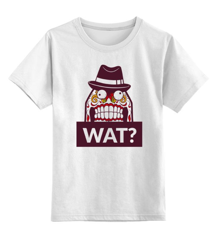 Детская футболка классическая унисекс Printio Wat? все цены