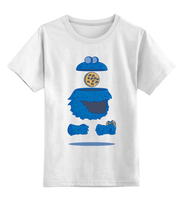 Детская футболка классическая унисекс Printio Печеньковое чудовище футболка рингер printio печеньковое чудовище