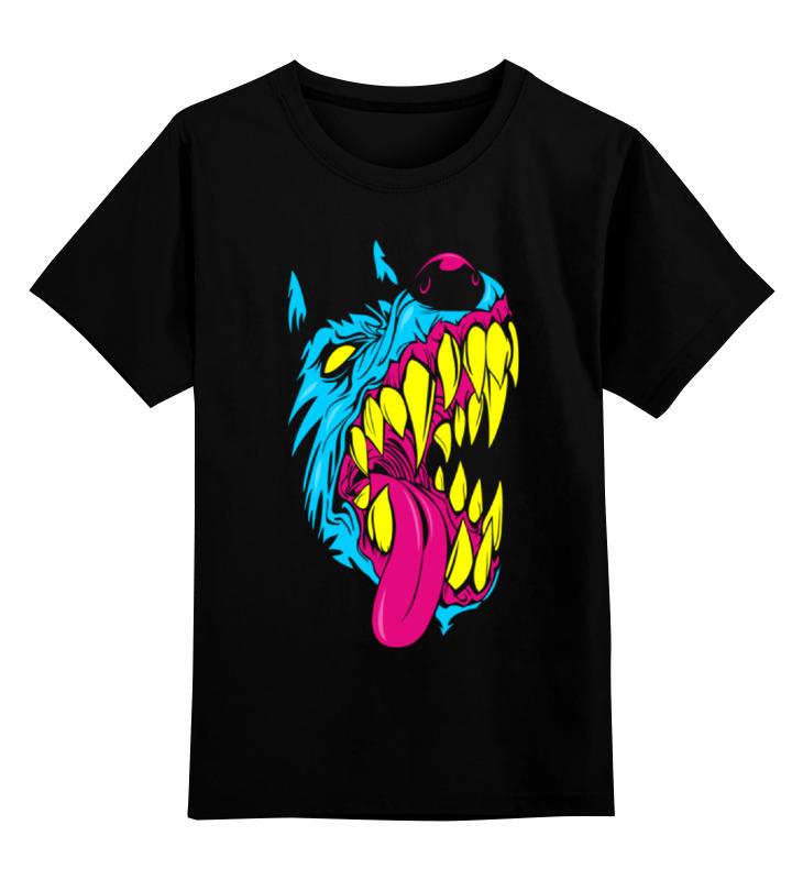 Детская футболка классическая унисекс Printio Радиоактивный пес цена и фото