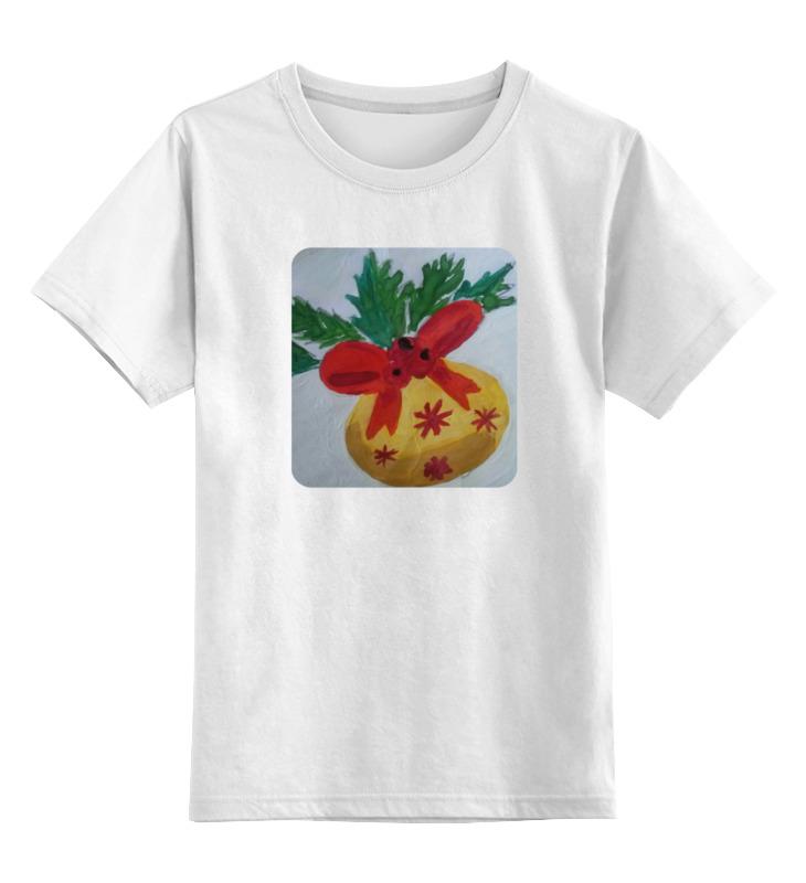 Детская футболка классическая унисекс Printio Новогодний шарик футболка классическая printio новогодний лось