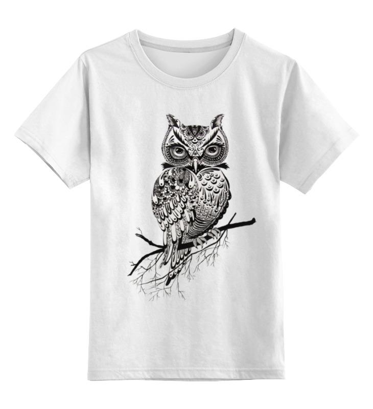 Детская футболка классическая унисекс Printio Арт филин