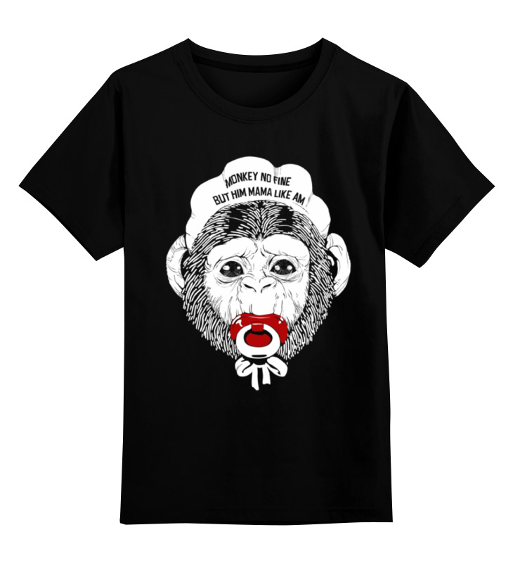 Детская футболка классическая унисекс Printio Обезьяна с соской детская футболка классическая унисекс printio обезьяна менеджер