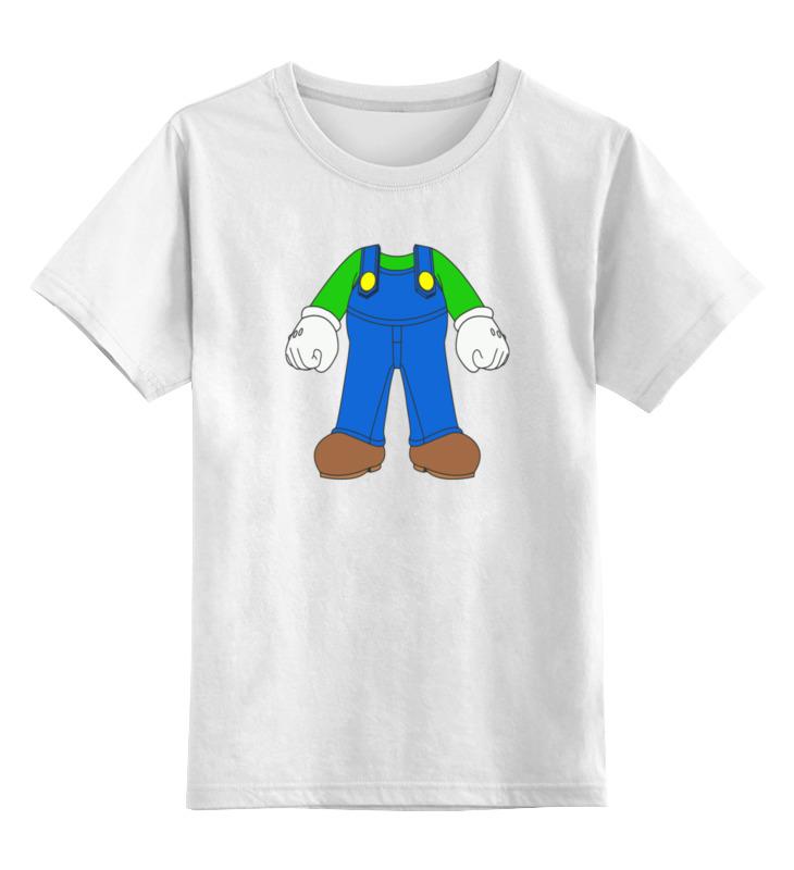 Детская футболка классическая унисекс Printio Луиджи (марио) детская футболка классическая унисекс printio марио