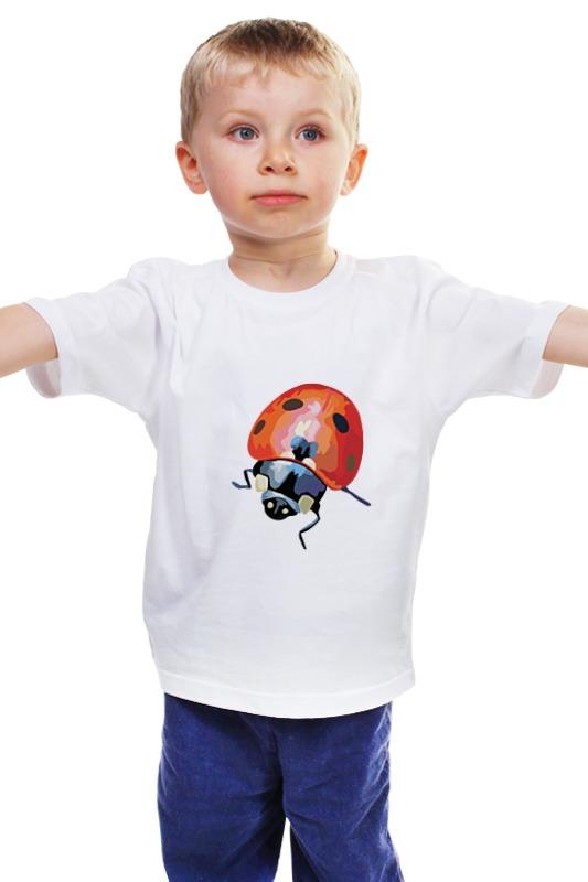 Детская футболка классическая унисекс Printio Божья коровка