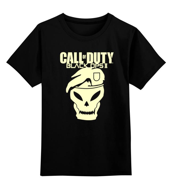 Детская футболка классическая унисекс Printio Call of duty black ops