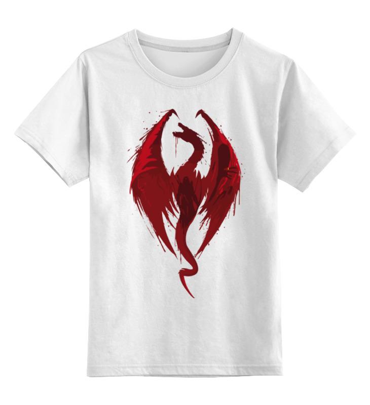 Детская футболка классическая унисекс Printio Skyrim (скайрим) майка классическая printio skyrim скайрим