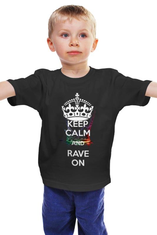 Детская футболка классическая унисекс Printio Eat sleep rave repeat sleep футболка
