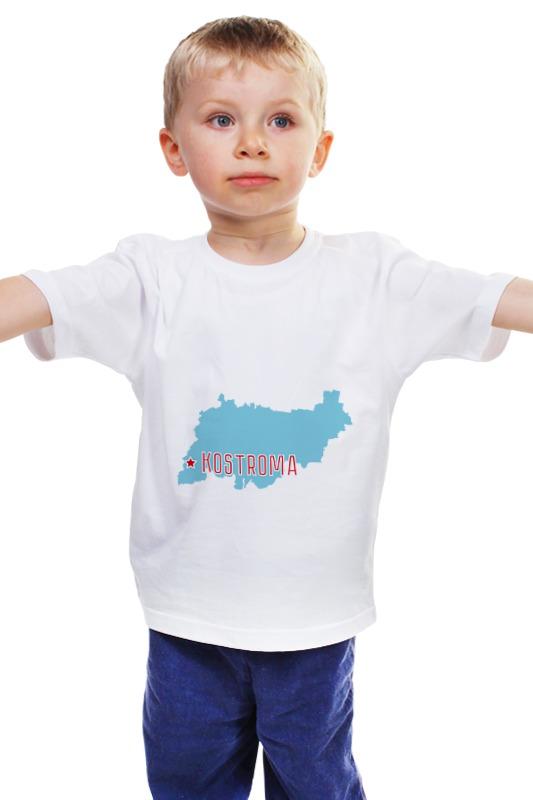 Детская футболка классическая унисекс Printio Костромская область. кострома