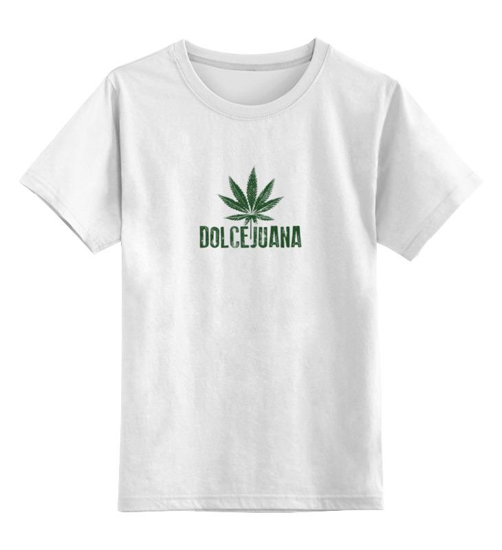 Детская футболка классическая унисекс Printio Марихуана дольчехуана handbook of cannabis