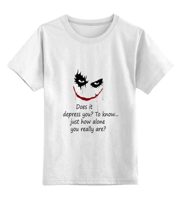 Детская футболка классическая унисекс Printio Джокер(joker) dc comics брелок dc comics the joker card