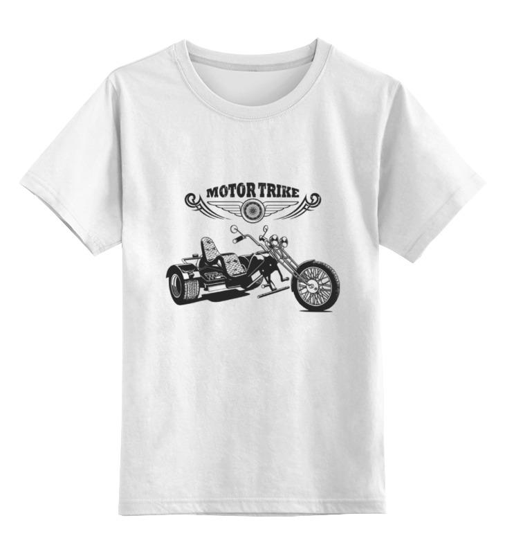 где купить Детская футболка классическая унисекс Printio Мото трайк дешево