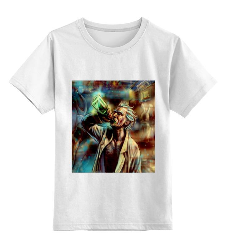 Детская футболка классическая унисекс Printio Рик пьет блокнот printio peace among worlds рик санчез