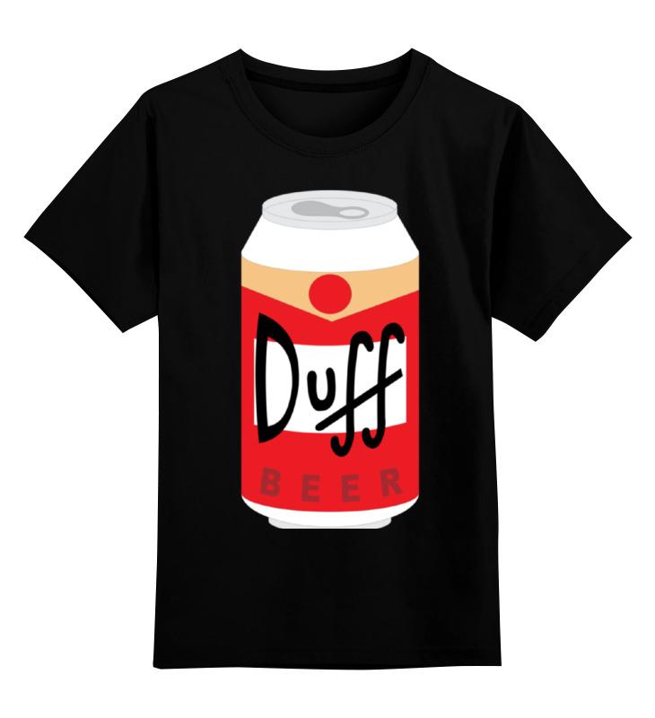 Детская футболка классическая унисекс Printio Пиво дафф (duff beer)