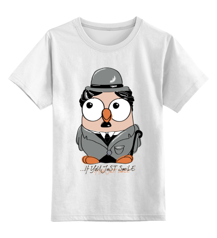 все цены на Детская футболка классическая унисекс Printio Сова чарли чаплин суперсова goofi онлайн