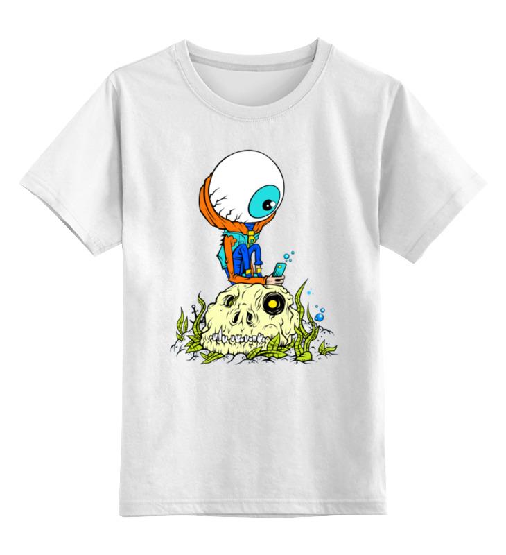 Детская футболка классическая унисекс Printio Зомби на черепе детская футболка классическая унисекс printio зомби