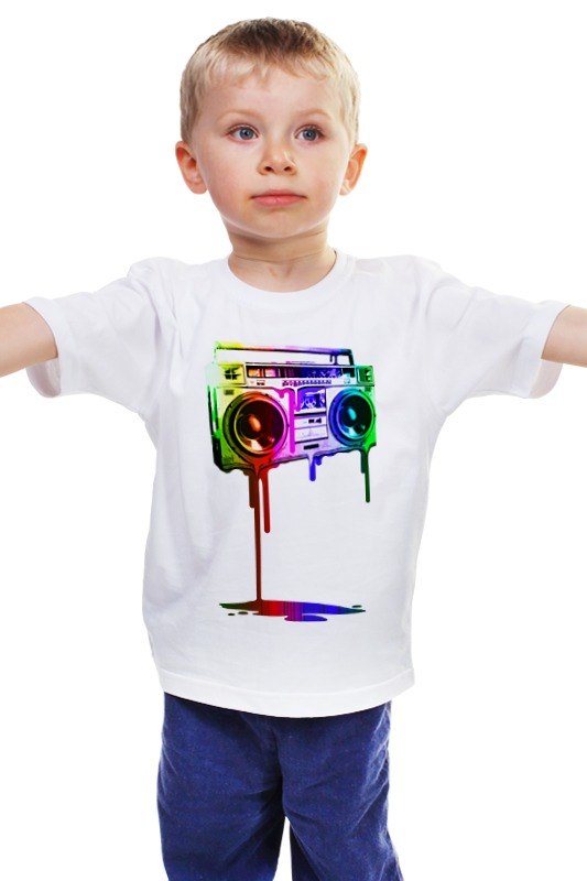 Детская футболка классическая унисекс Printio Магнитофон магнитофон в м видео