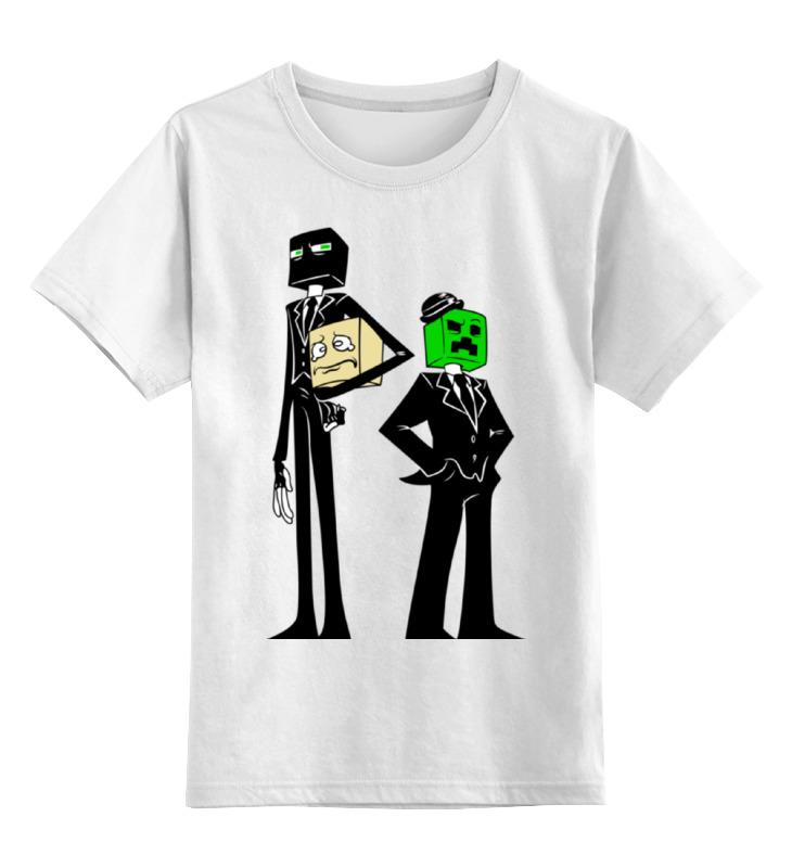 Детская футболка классическая унисекс Printio Крипер и эндермен. майнкрафт jazwares фигурка эндермен 8см minecraft