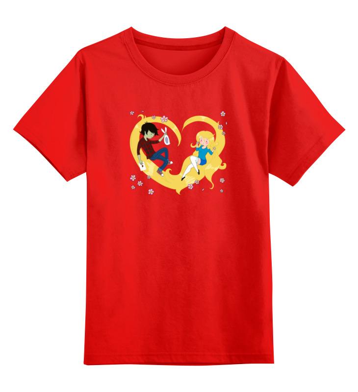 Детская футболка классическая унисекс Printio Влюбленные smoby детская горка king size цвет красный