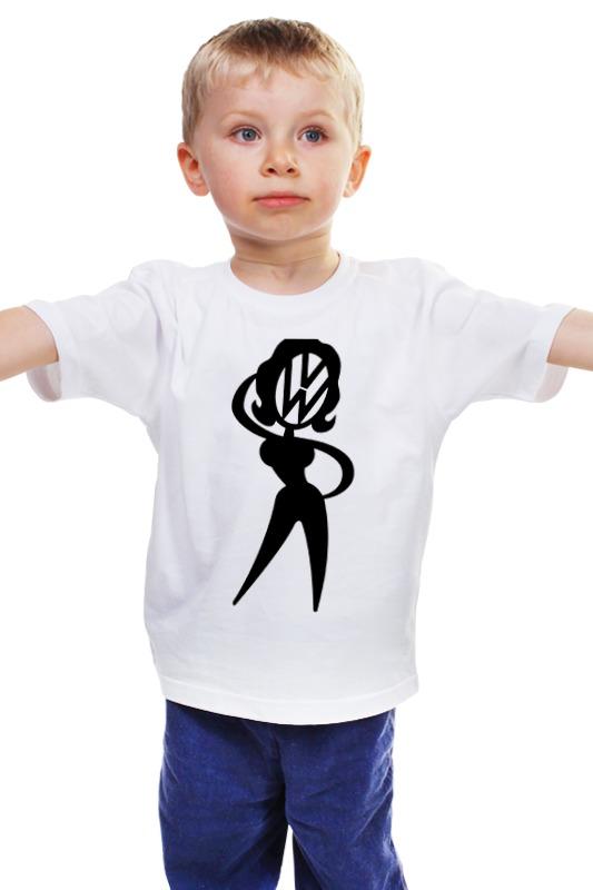 Детская футболка классическая унисекс Printio Фольцваген герл мультимедия на фольцваген джетта